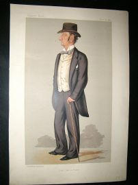 Vanity Fair Print: 1889 Justice Barry, Legal